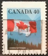 CANADA 1990 Bandera Nacional. 2 C. USADO - USED.