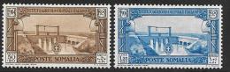 Somalia, Scott # B33-4 Mint Hinged  Irrigation Canal, 1930 - Somalia