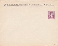 Entier Postal 15  ** De La Firme Jb Seiler à Liestal - Entiers Postaux
