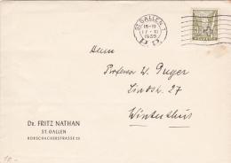 No 194 Sur Lettre Du Dr.Fritz Nathan, St.Gallen, Obl. Le 10.XI.1936 - Suisse