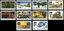 Etats-Unis / United States (Scott No.2838a-j - World War II / 2e Guerre Mondiale)+ [**] - Unused Stamps