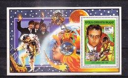 MADAGASCAR - 1991 - Feuillet 1048 - John LENNON - Acteurs Célébres De L'histoire Du Cinéma - Madagaskar (1960-...)
