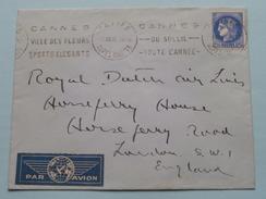 Enveloppe Vide Royal Dutch Air Lines London England < CANNES Anno ?? ( Voir/zie Foto Pour Detail Svp ) ! - Marcofilie (Brieven)