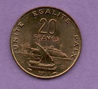 DJIBOUTI - 20 FRANC 1991 - Canada