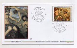 Italia - 1994 - Busta FDC - Tematica Arte - Pittura -  Il Tintoretto - Con Doppio Annullo Venezia - (FDC4472) - FDC