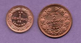 HONDURAS - 1 CENTAVO + 2 CENTAVOS - Honduras
