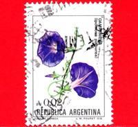 ARGENTINA - Usato -  1985 - Fiori - Flowers - Fleurs - Campanella - Ipomoea Purpurea - 0.02 - Argentina