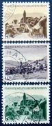 LIECHTENSTEIN 1944 Views Set Of 3 Used