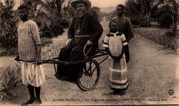 CONGO FRANÇAIS - Mgr Angouard En Pousse-pousse à Brazzaville - Congo Français - Autres