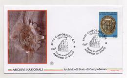 Italia - 1994 - Busta FDC - Archivio Di Stato Di Campobasso - Con Doppio Annullo Campobasso - (FDC4476) - F.D.C.