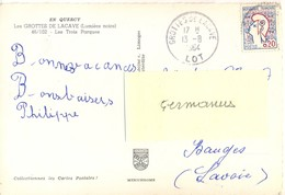 GROTTES DE LACAVE LOT TàD 13-8-1964 - Cachets Manuels