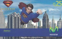 GUATEMALA -  Superman , Telefonica Movistar , GSM Refill, Used - Guatemala