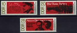 DDR 1968 - MiNr 1417-1419 - 50. Jahrestag Der Novemberrevolution In Deutschland - Ungebraucht