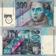 SLOVAKIA       200 Korún       Comm.       P-37       1.8.1995 (2000)      UNC - Slovacchia