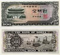 SOUTH KOREA      500 Won       P-39a       ND (1966)      UNC - Corea Del Sud