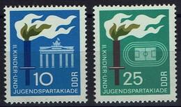 DDR 1968 - MiNr 1375-1376 - Kinder- Und Jugendspartakiade, Berlin - Briefmarken