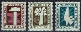 DDR 1968 - MiNr 1368-1370 -  Internationales Jahr Der Menschenrechte - Ungebraucht