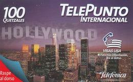 GUATEMALA -  Hollywood - Visas Usa , Telefonica TelePunto , Used - Guatemala
