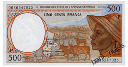 CENTRAL AFRICAN STATES CHAD 500 FRANCS 2000 Pick 601Pg Unc - Central African States