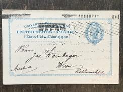 K3 United States Etats-Unis USA Stationery Entier Postal Ganzsache UX6 From New York To Vienna Wien