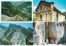 0809w: 4 AKs Carrara, Marmorsteinbruch, Ungelaufen - Carrara