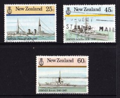 New Zealand 1985 Naval History 3 Values Used - Used Stamps