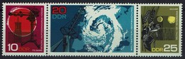 DDR 1968 - MiNr 1343-1345 Dreierstreifen - Meteorologisches Hauptobservatorium Potsdam - Protection De L'environnement & Climat