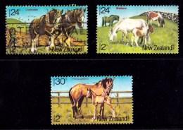New Zealand 1984 Health - Horses Set Of 3 Used - - New Zealand