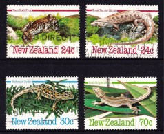 New Zealand 1984 Reptiles & Amphibians 4V Used - - Used Stamps