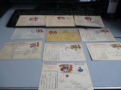 10 CARTES DE CORRESPONDANCE MILITAIRE EN FRANCHISE GUERRE 14/18 - 1914-18