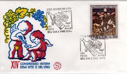 Italia 1974 45^ Festa Dell'uva E Del Vino D.o.c. Wine Annullo FDC Bardolino (VR) - Vini E Alcolici