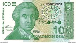 CROATIA 100 DINARS 1991 UNC [ HR305a ] - Croatie