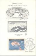TERRITORIOS ANTARTICOS ARGENTINOS DOBLE VUELO TRANSPOLAR TRASANTARTICO TARJETA FDC AÑO 1968 ARGENTINA TBE - Postzegels