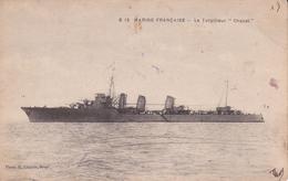 "CPA Marine De Guerre Française. Torpilleur  "" CHACAL"". ...D110 - Guerra"