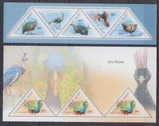 GUINEA  2011 Birds, Peacocks  Sheetlet+SS  Perf.