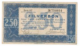 Netherlands 2 1/2 Gulden, 1938, VF/XF.  Free Ship. To USA. - [2] 1815-… : Regno Dei Paesi Bassi