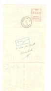 Quittance D'assurance De 155 Frs C.méc.de 5 Fr.+c.Bruxelles 30/11/1954 + étiq.parti Pour Et Adresse AP1008 - 1950 - ...