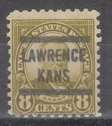 USA Precancel Vorausentwertung Preos Locals Kansas, Lawrence 589-573