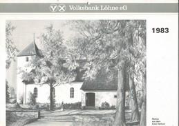 1983 Calendrier Allemand Grand Format, Complet . Illustrations Par Hermann WINDMANN. Excellent état - Calendriers