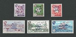 HERM Island 1960 - Map & Boat /World Refugee Year - MNH - B&F 65-70 - Emissione Locali