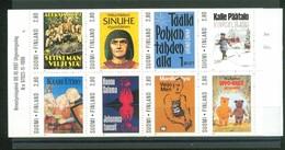 Finland 1997 - Titelbilder Bedeutender Romane, MH 49, MNH**