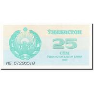 Uzbekistan, 25 Sum, 1992-1993, 1992, KM:65a, NEUF - Uzbekistán