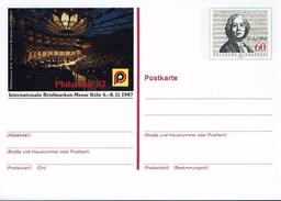 Deutschland 1987 - Postkarte - Philatelia Köln (Markenbild: Chr. W. Gluck, Komponist) - Musique