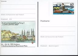 Deutschland 1992 - Postkarte - Koblenz - BRD