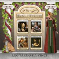 Solomon Island 2017 Leonardo Da Vinci Italy Painter Paintings S/S SLM17105 - Actores