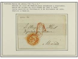 ESPAÑA: PREFILATELIA. 1764-1850. TORTOSA. Colección de 8 cartas (nº 2, 4, 5(2), 6, 7, 8 y...