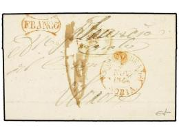 ESPAÑA: PREFILATELIA. 1848. MOLINA a FRANCIA. Fechador de MOLINA DE A./ SORIA y FRANCO...