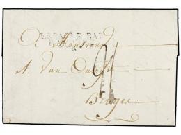 ESPAÑA: PREFILATELIA. Ed.D.P.1. 1807 (31 dicimebre). MADRID a FRANCIA. Marca ESPAGNE...