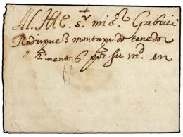 ESPAÑA: PREFILATELIA. 1581. MADRID a MILAN. Carta completa cerrada por el sistema ´Fer de Lance´...