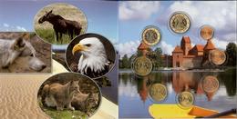 Litouwen Euro Jaarset 2015, 8 Munten Van 1 Cent Tot 2 Euro In Mapje - Litouwen